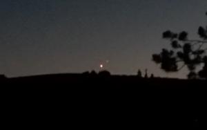 Venusuntergang und Jupiteruntergang