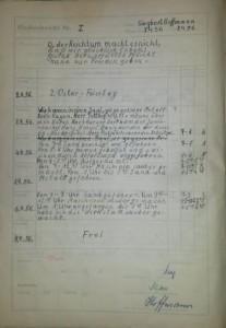 Arbeitsbericht 3. April 1956